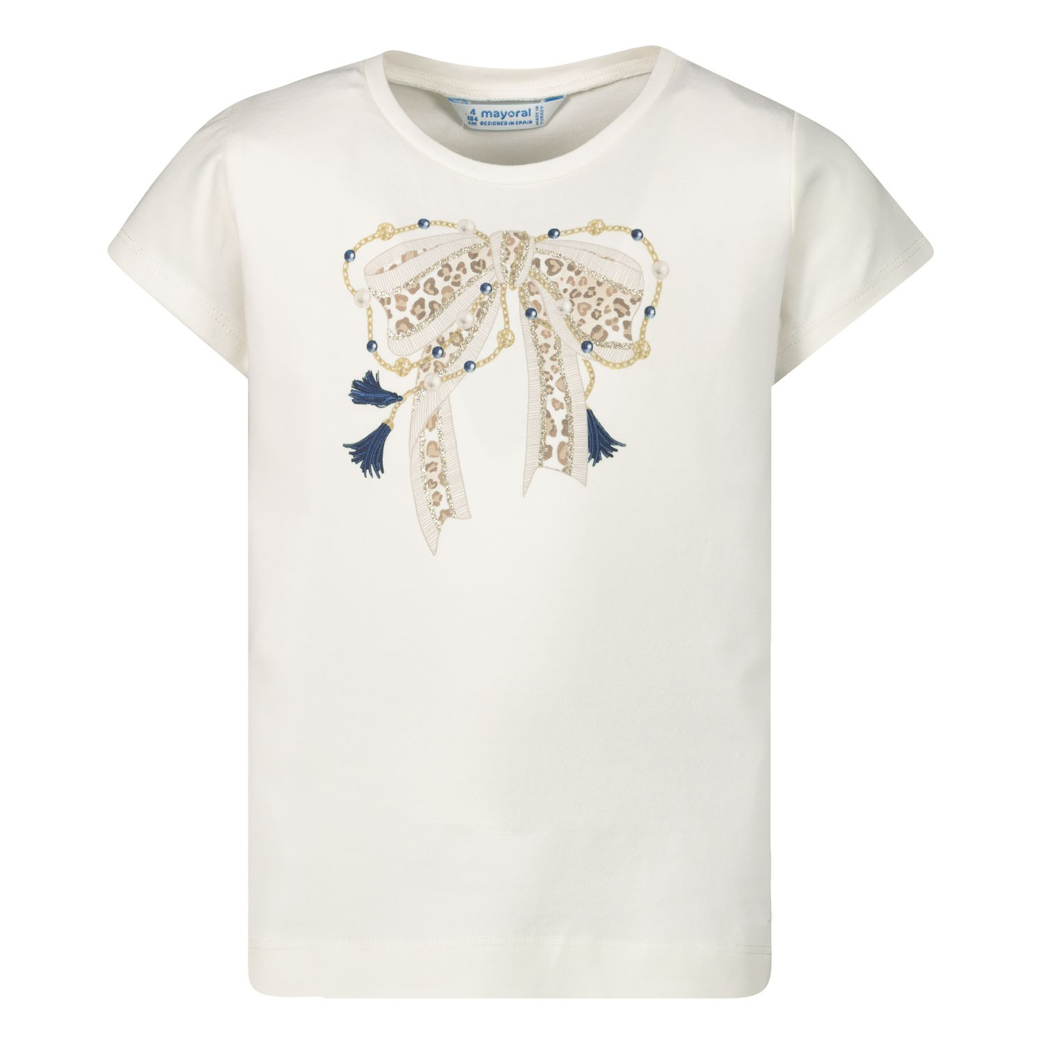 Afbeelding van Mayoral 3007 kinder t-shirt off white