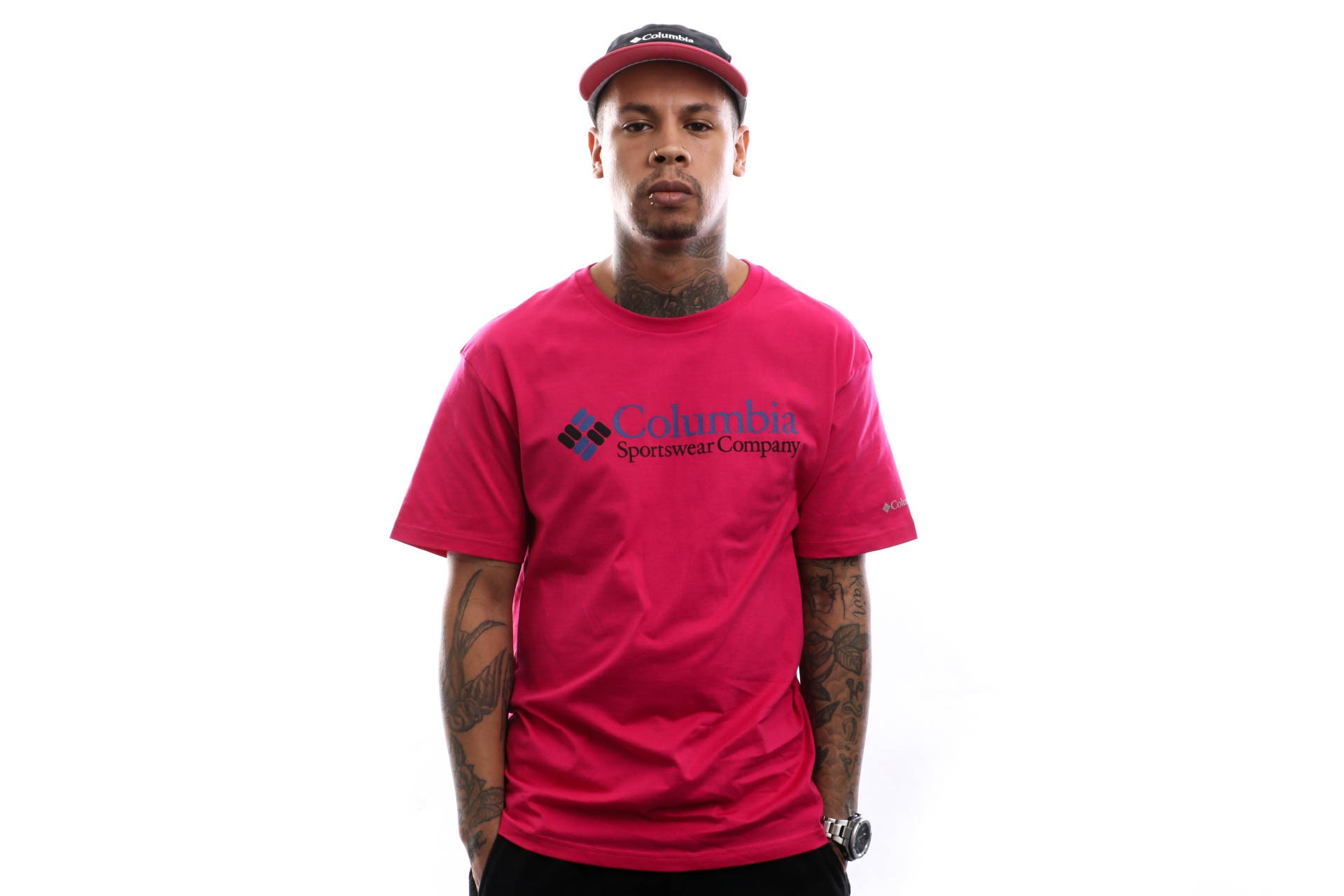 Foto van Columbia T-Shirt CSC Basic Logo™ Short Sleeve Cactus Pink Icon 1680053612