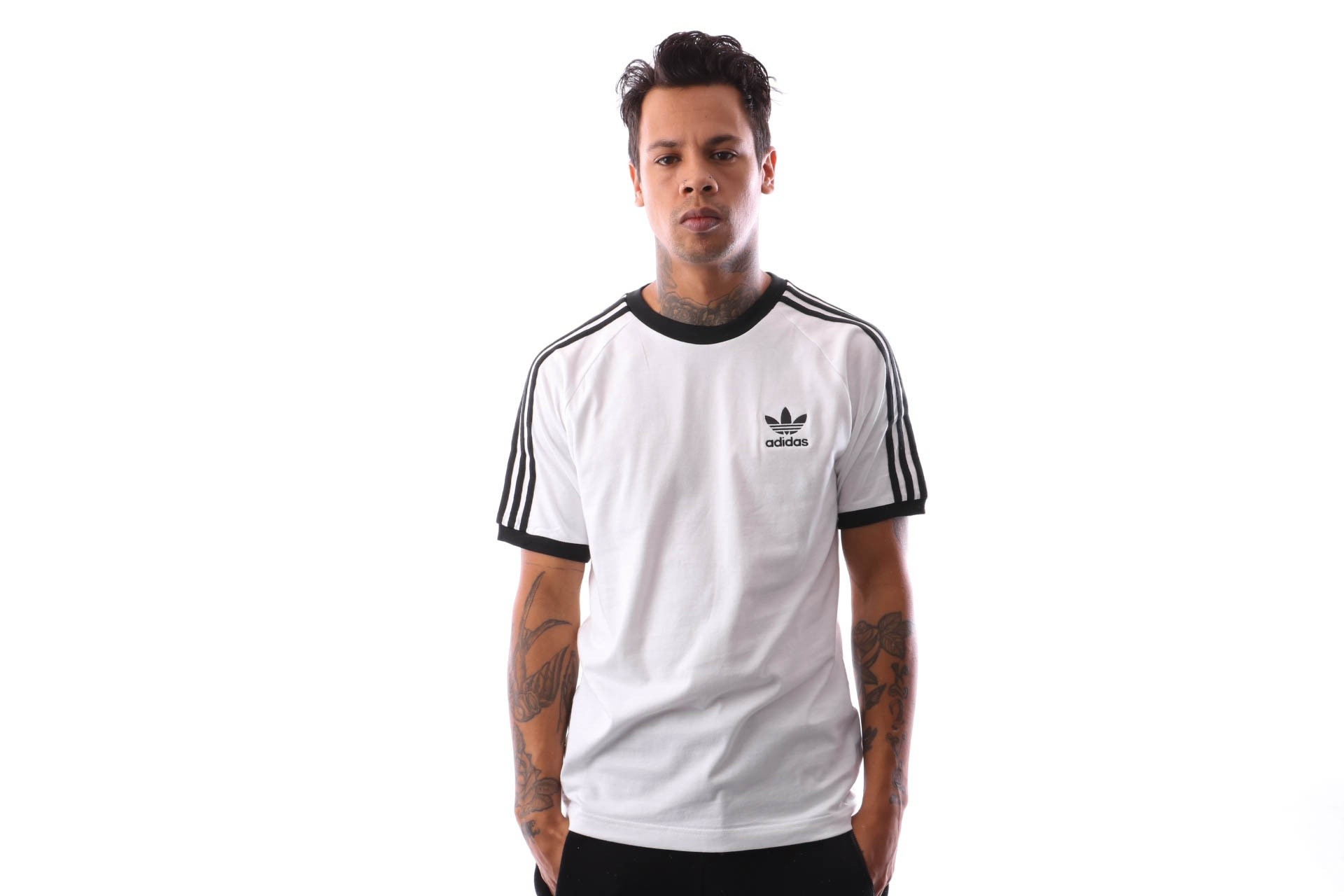 Foto van Adidas 3-Stripes Tee Cw1203 T-Shirt White