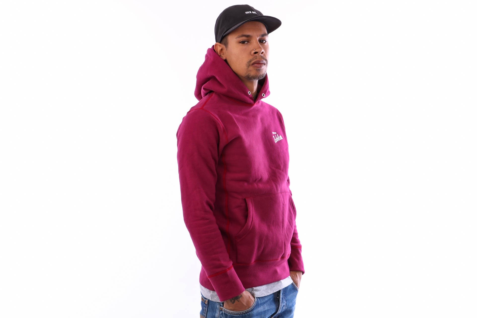 Afbeelding van Raised By Wolves Vintage Varsity Hooded Sweatshirt Rbwfw18401 Hooded Harvard Fleece