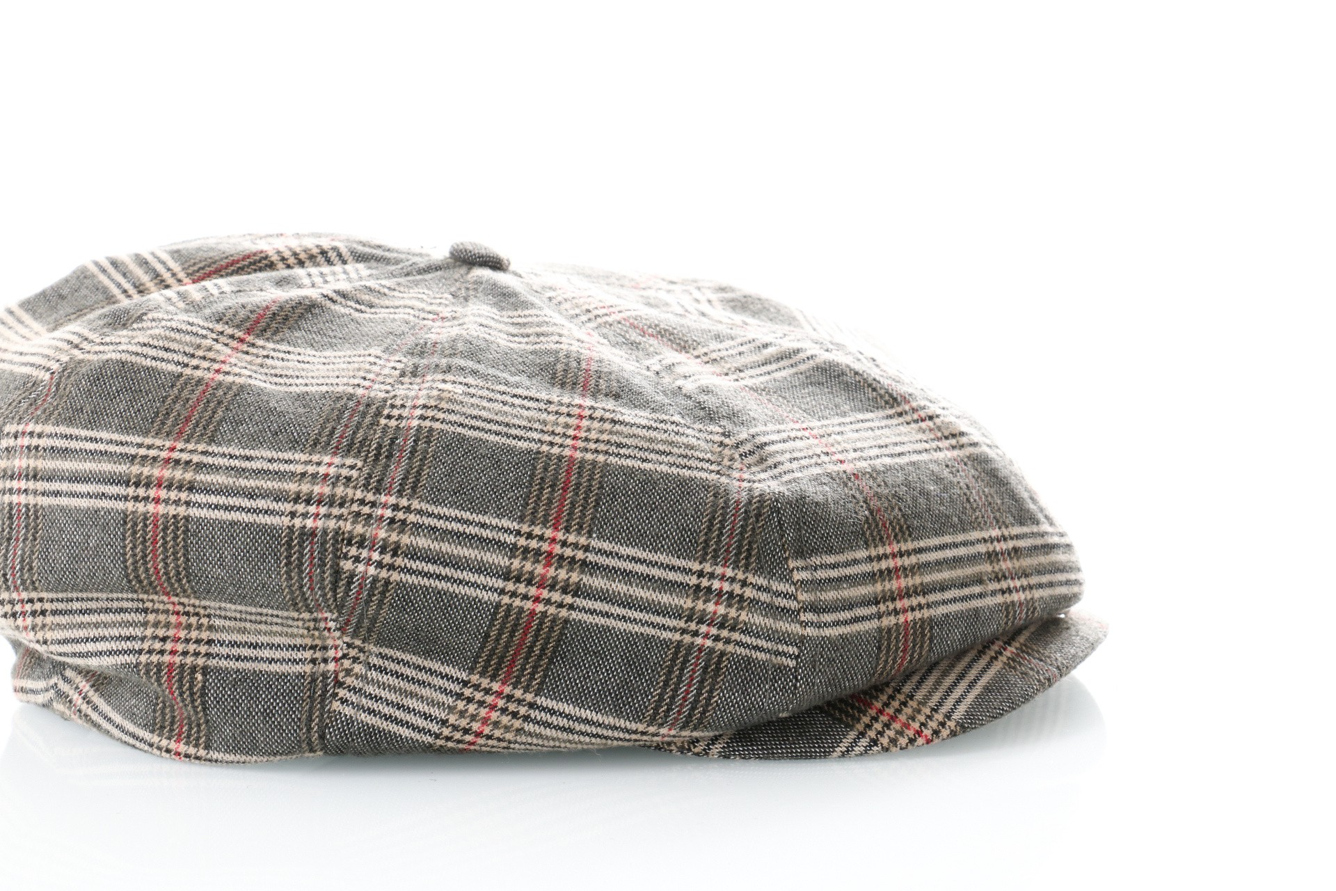 Afbeelding van Brixton Flapcap Brood Snap Cap Grey/Tan Plaid 6