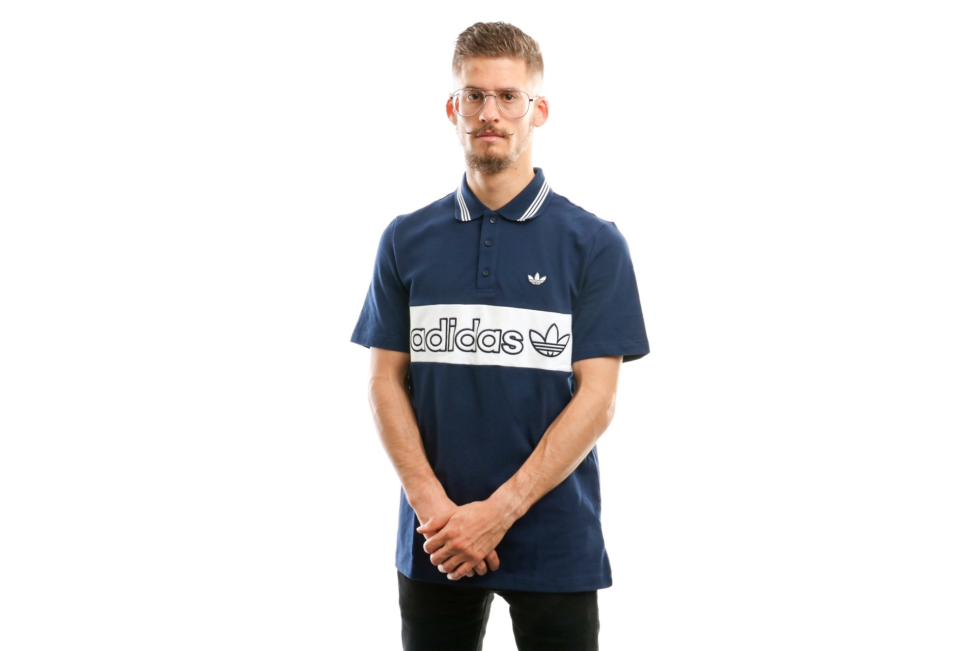 Foto van Adidas Stripe Ec9307 Polo Night Indigo/White
