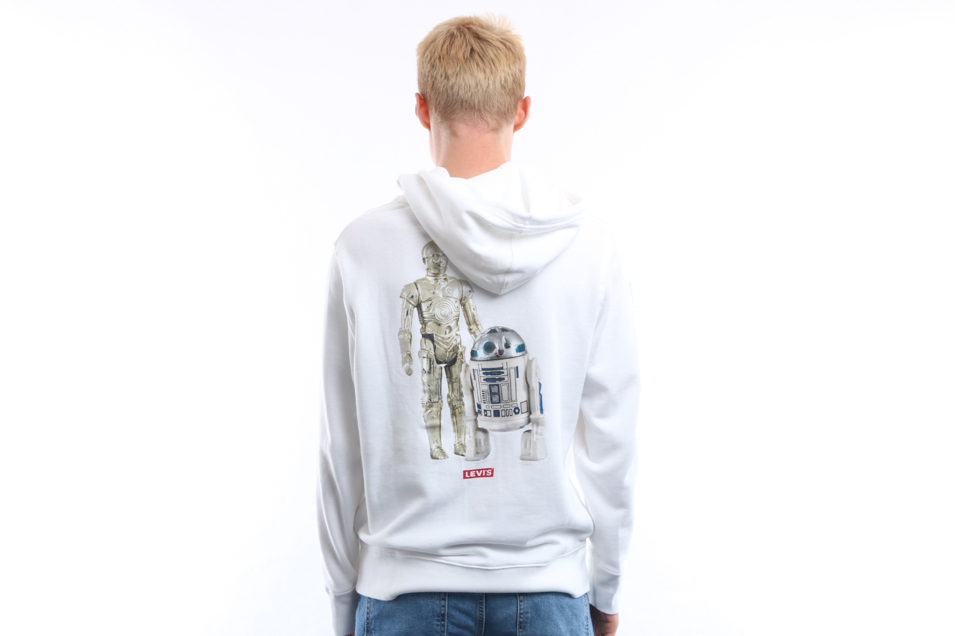 Afbeelding van Levi's Star Wars Hooded Graphic White 19491-0097