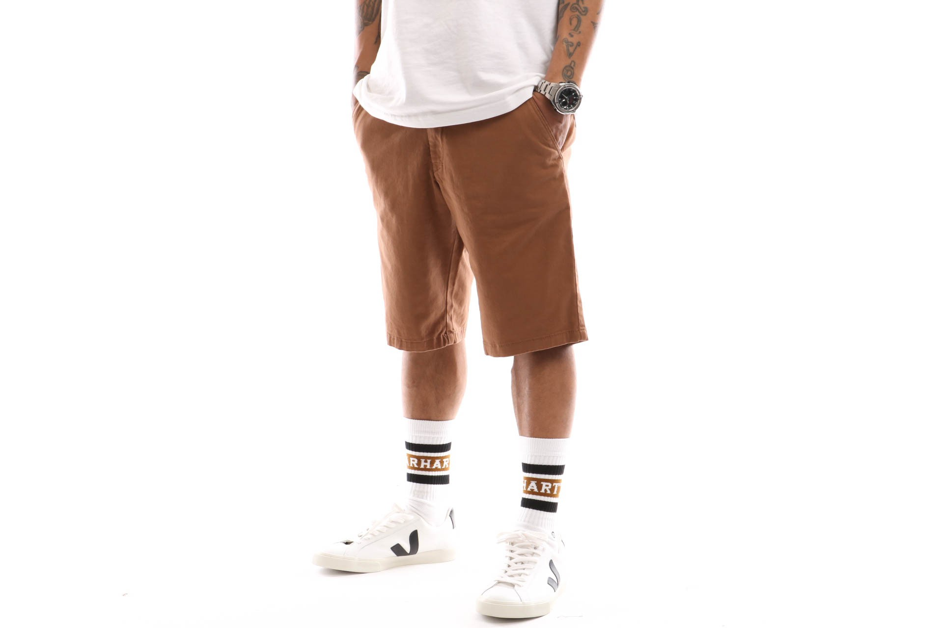 Afbeelding van Reell Flex Grip Chino Short 1203-005 Short Ocre Brown