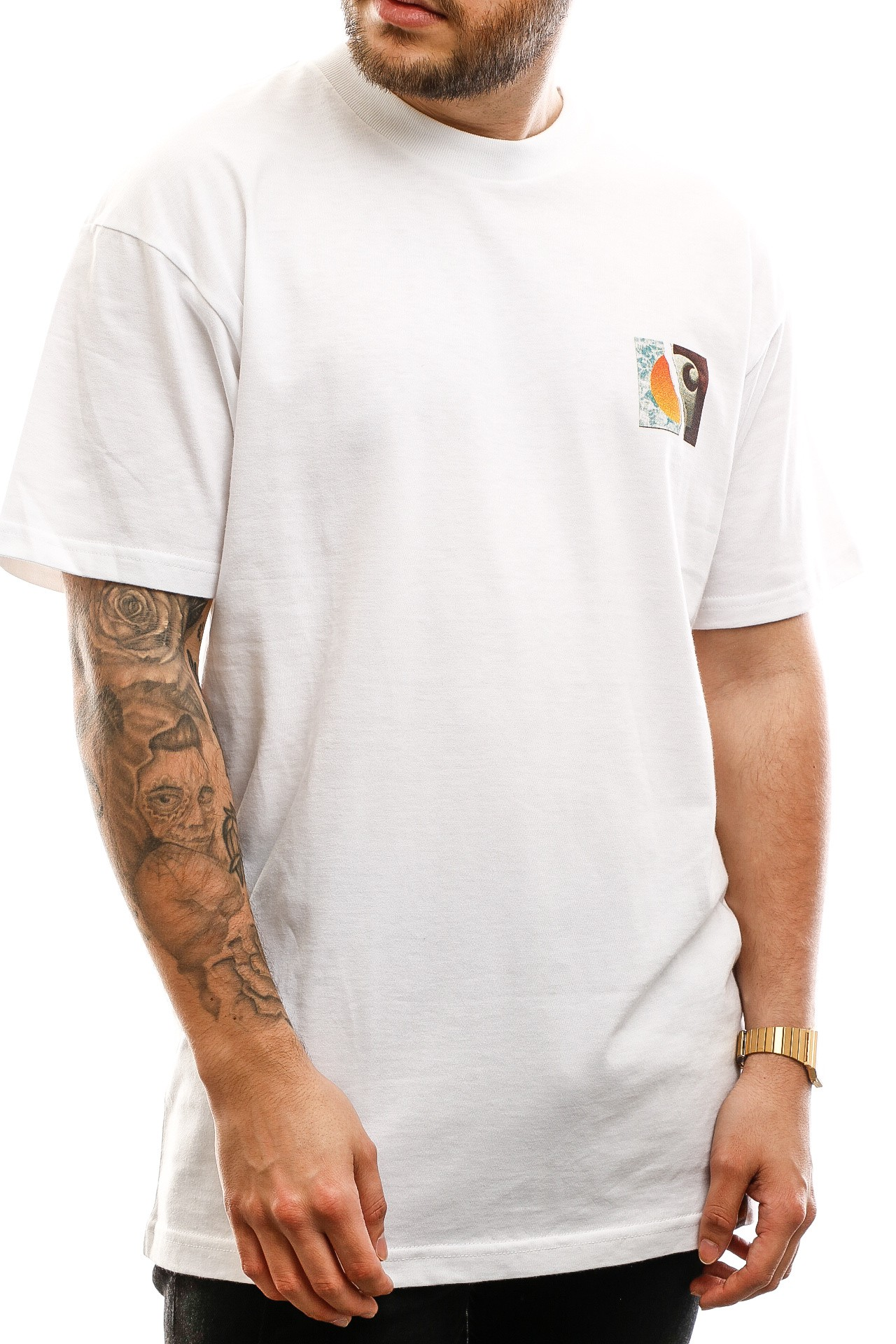 Afbeelding van Carhartt T-shirt S/S Backpages T-Shirt White I027757