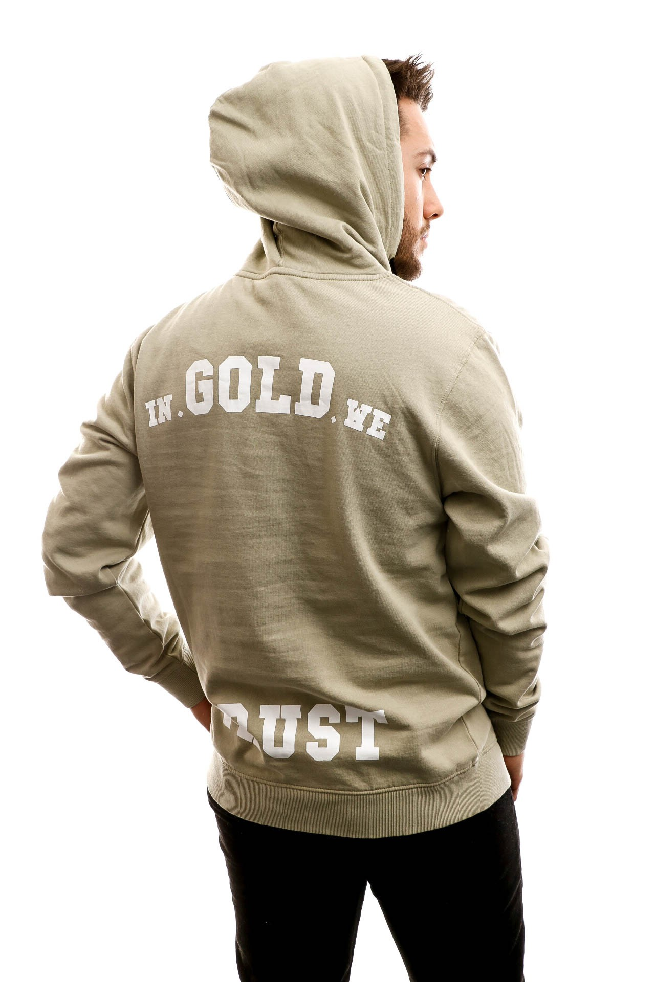 Foto van In Gold We Trust Hooded The Notorious Olive green IGWTH-011-O