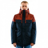 Reell Jacket Field Jacket 2 Navy / Red Brown 1306-048