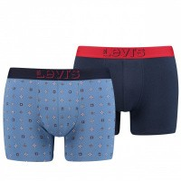 Levi's Bodywear Boxershort Levis Men Mini Icon Aop Boxer Brief 2P Riverside Blue 905032001