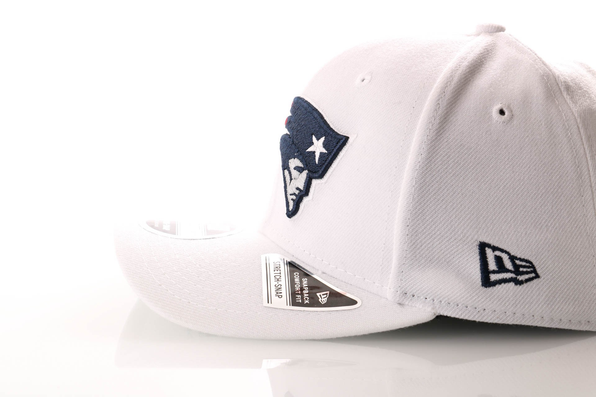 Afbeelding van New Era Snapback Cap New England Patriots White Base Stretch Snap 9Fifty 12040169