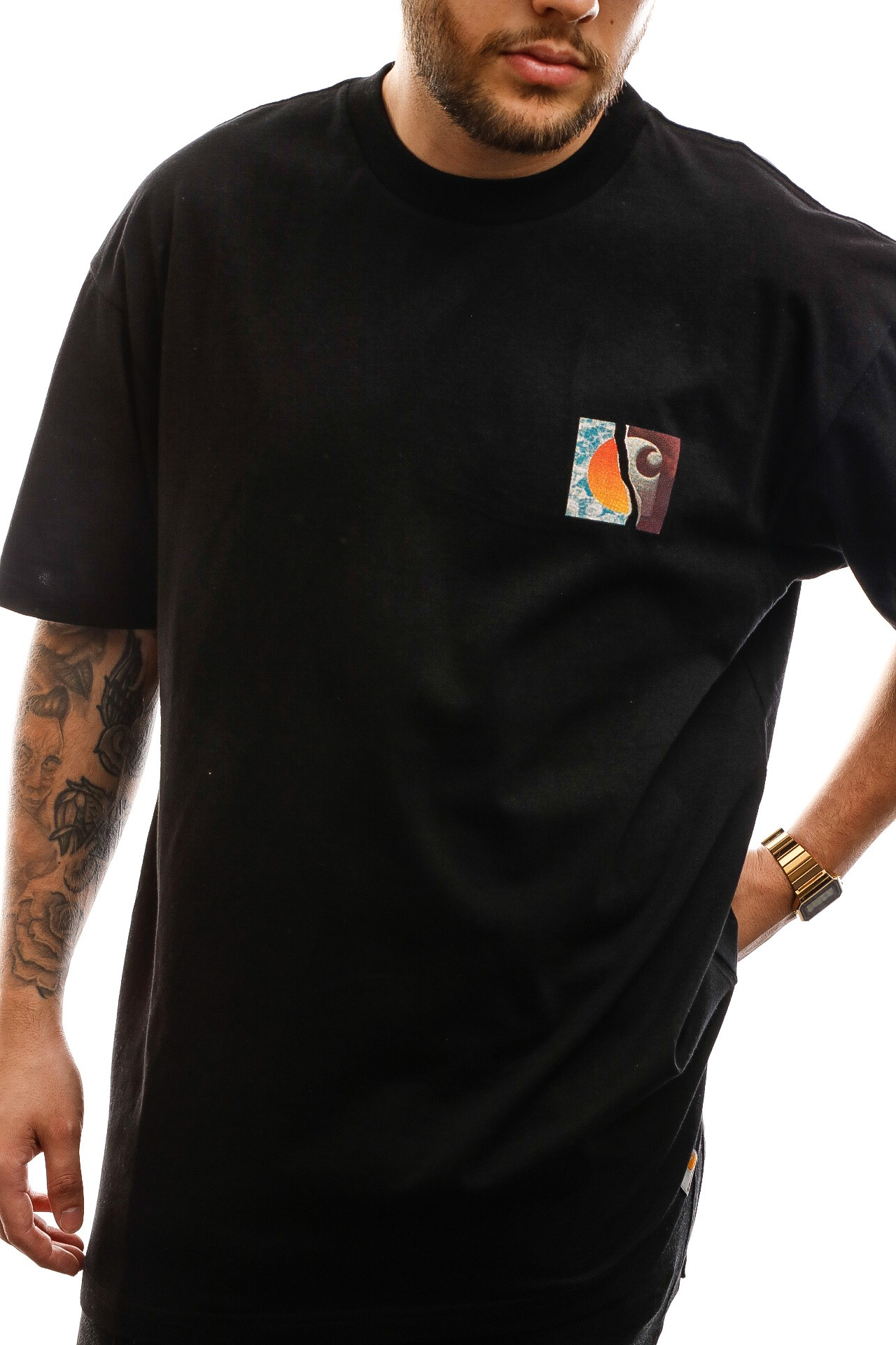 Afbeelding van Carhartt T-shirt S/S Backpages T-Shirt Black I027757