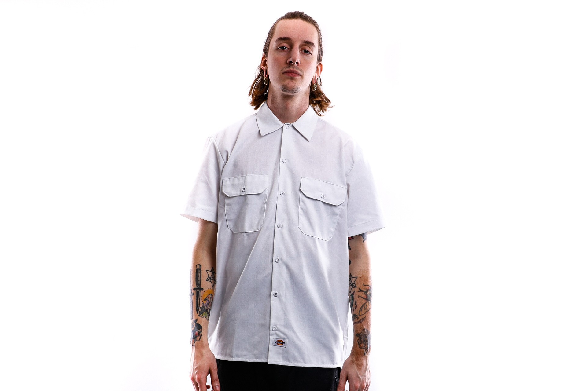 Foto van Dickies Overhemd Short Sleeve Work Shirt White DK001574
