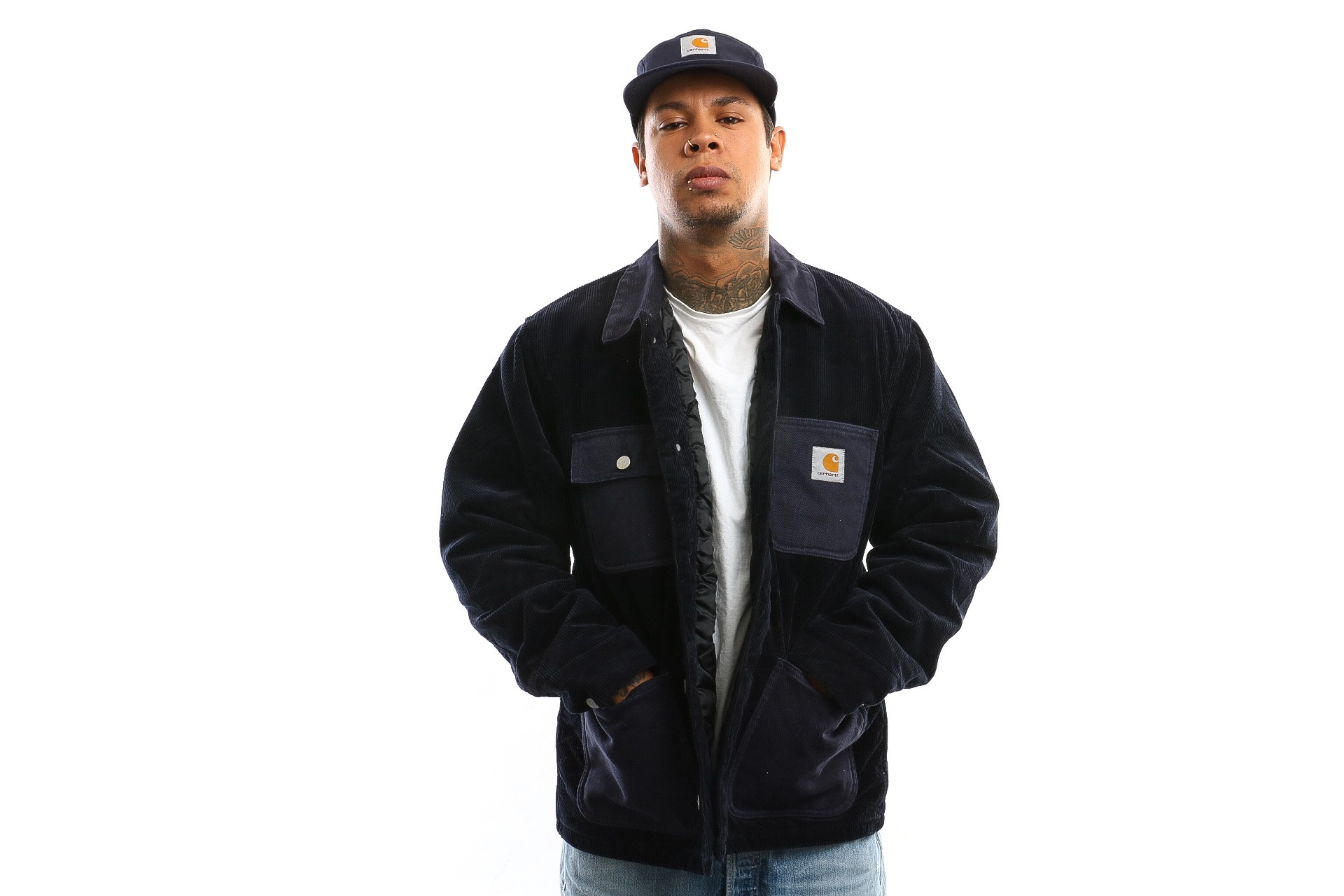 Foto van Carhartt Wip Michigan Coat I027367 Jacket Dark Navy