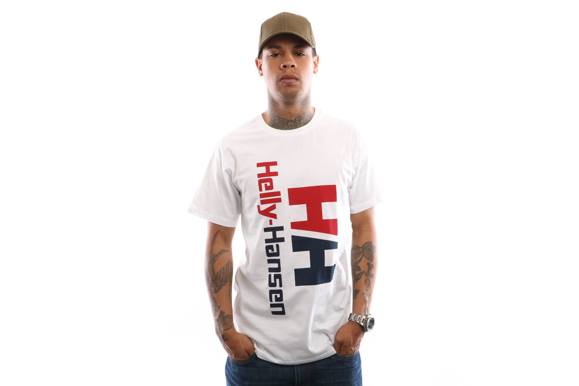 Foto van Helly Hansen Hh Urban Retro Tee 29662 T Shirt White