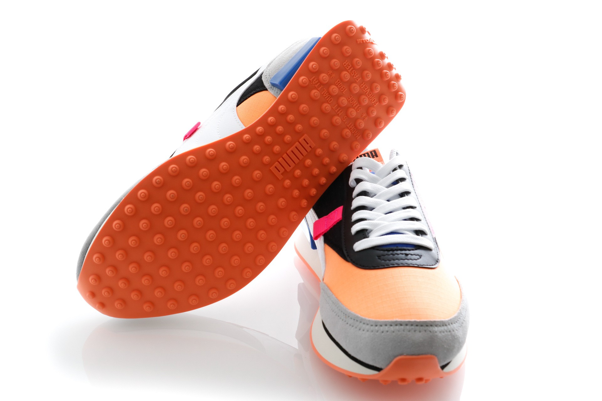 Afbeelding van Puma Sneakers Rider Play On Puma Black-Fizzy Orange-High Rise 371149 04