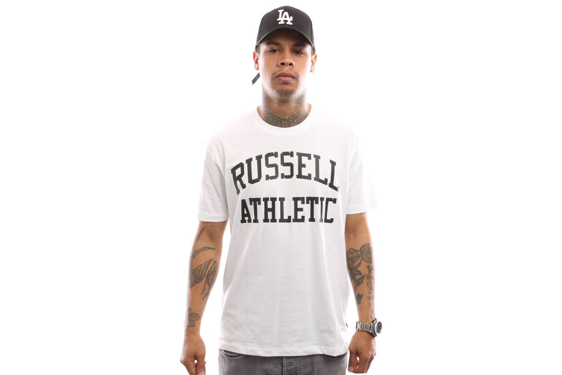 Russell Athletic Iconic Short Sleeve A9-002-1 T Shirt White