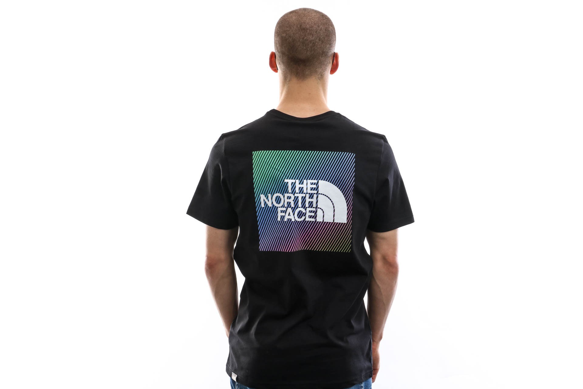 Foto van The North Face T-shirt Men'S Ss Rnbw Tnf Black/Tnf White NF0A4M6PKY4