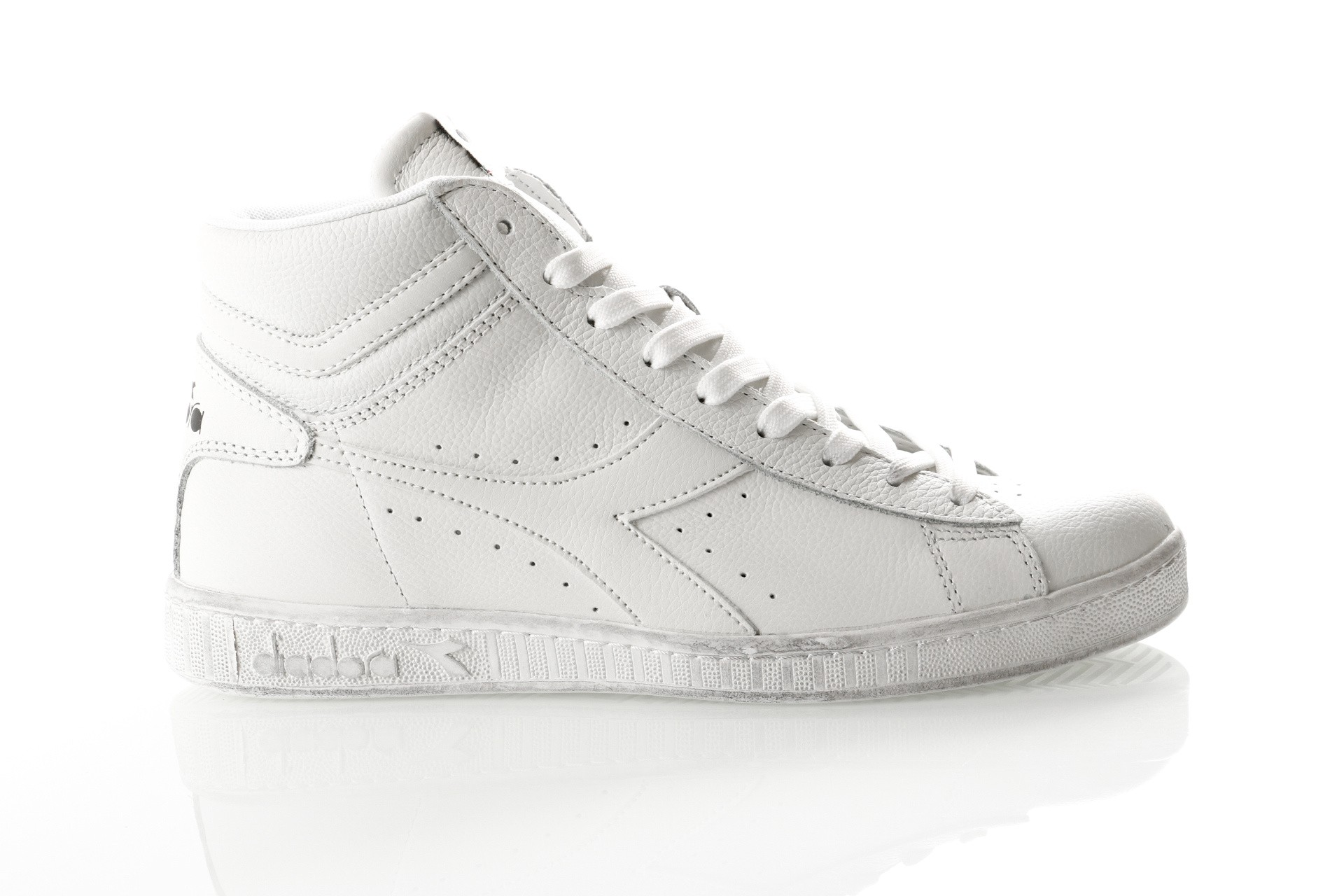 Afbeelding van Diadora Game L High Waxed 501159657 Sneakers White/White/White