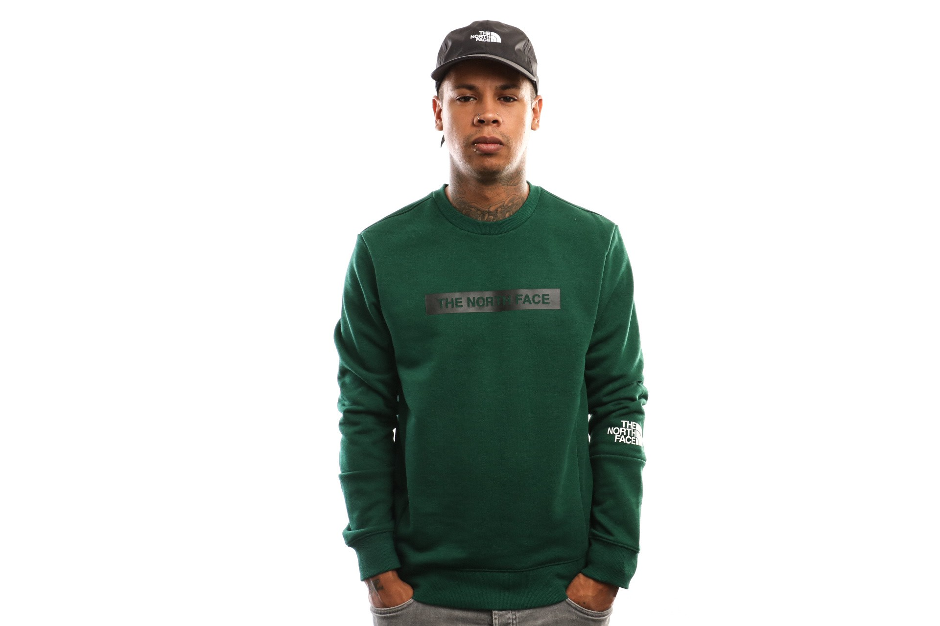 Afbeelding van The North Face Lht Crew T93Rydn3P Crewneck Night Green