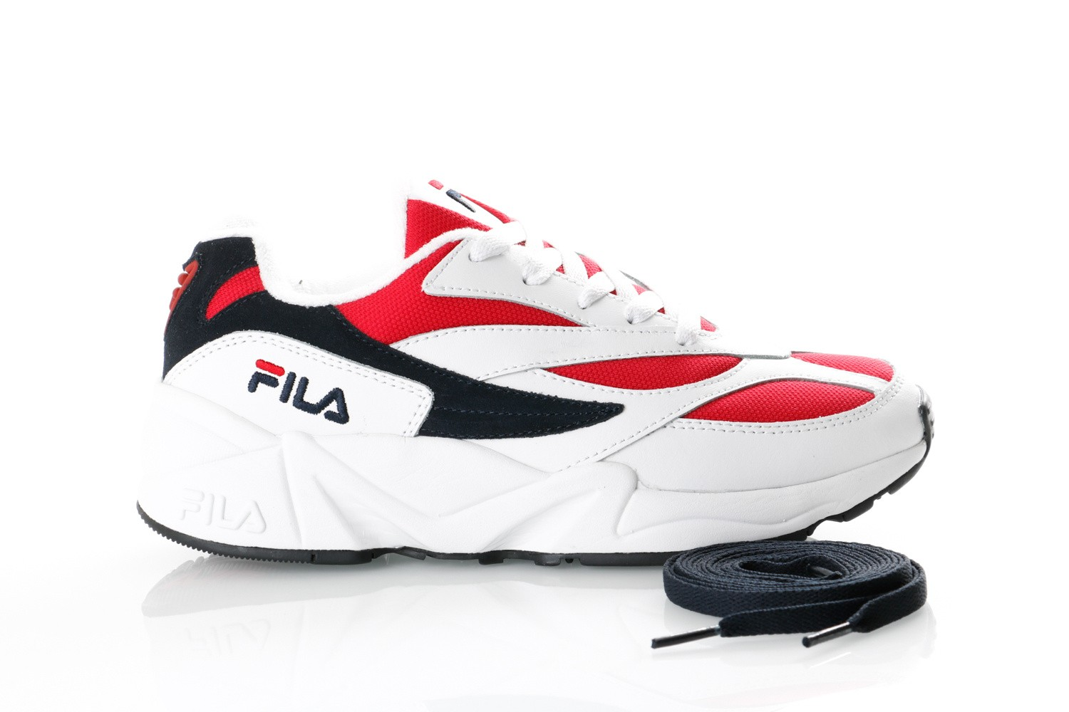 Afbeelding van Fila V94M Low Wmn 1010291 Sneakers White/Fila Navy / Fila Red