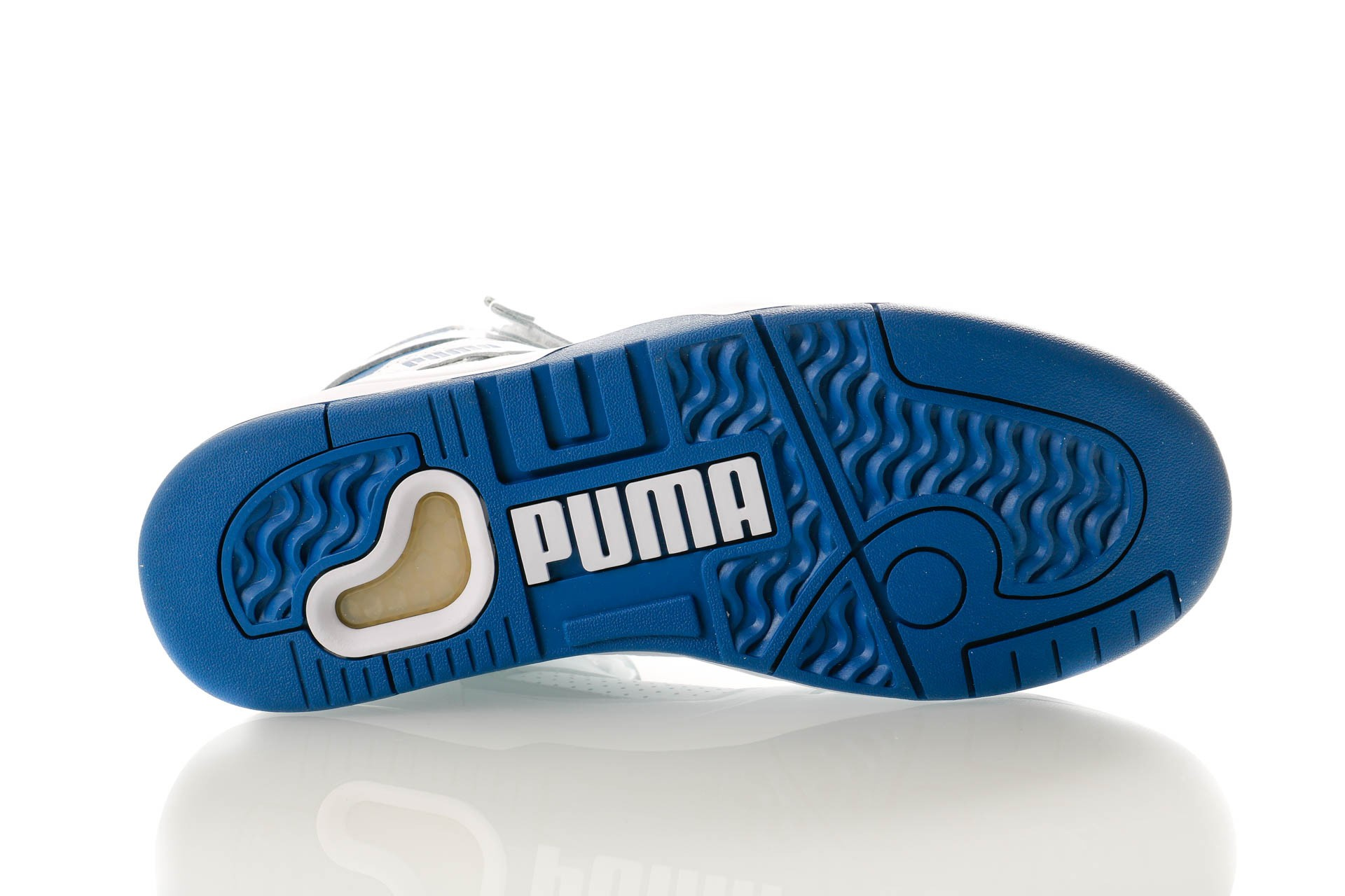 Afbeelding van Puma Palace Guard Mid Athletic 371001 01 Sneakers Puma White-High Rise-Galaxy Blue
