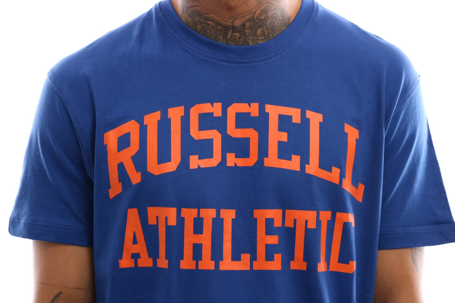 Afbeelding van Russell Athletic Iconic Short Sleeve A9-002-1 T Shirt Mazarine Blue