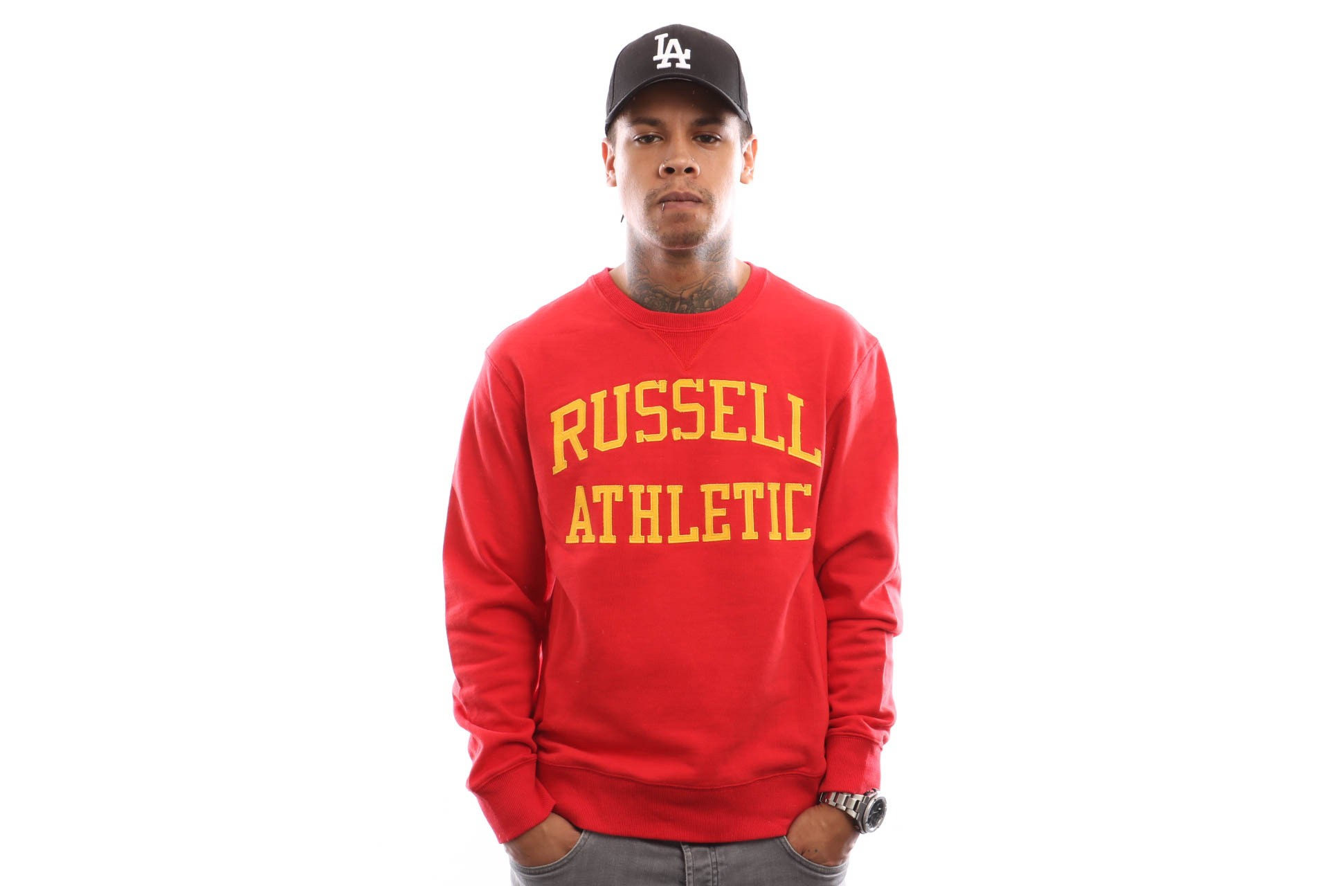 Afbeelding van Russell Athletic Iconic Tackle Twill A9-003-1 Crewneck True Red
