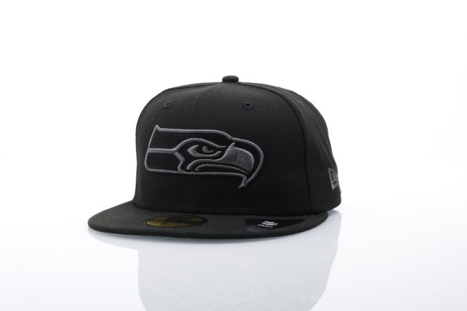Foto van New Era Fitted Cap Seattle Seahawks Black graphite 59fifty Seattle Seahawks 80536279