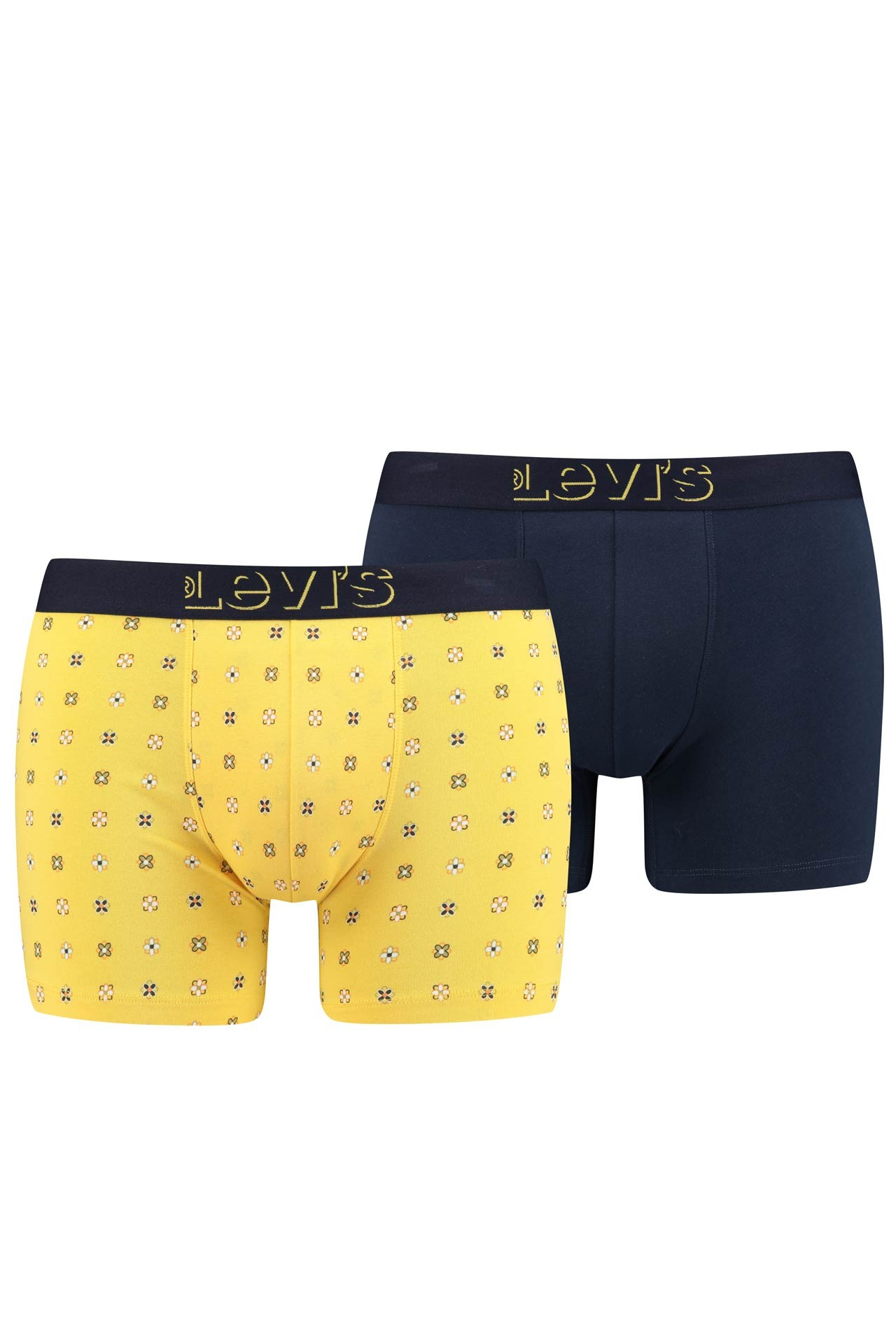 Afbeelding van Levi's Bodywear Boxershort Levis Men Mini Icon Aop Boxer Brief 2P Yellow 905032001