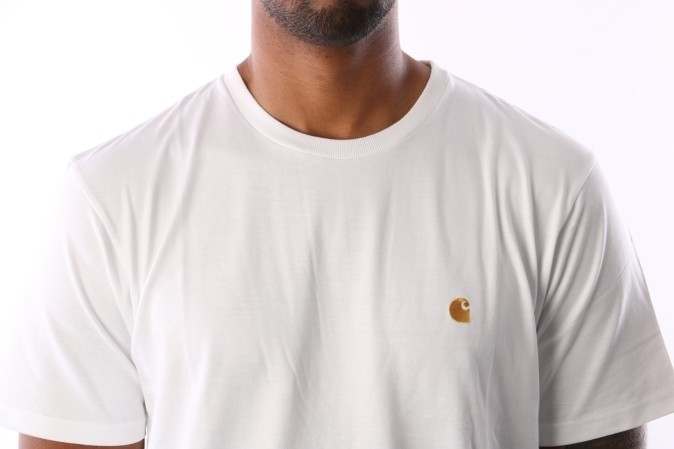 Afbeelding van Carhartt Wip I026391 290 T-Shirt Chase White/Gold